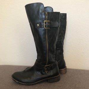 Shoes - 2 for $20 Black quilted Boots